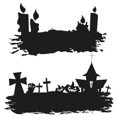 Halloween abstract set, vector illustration