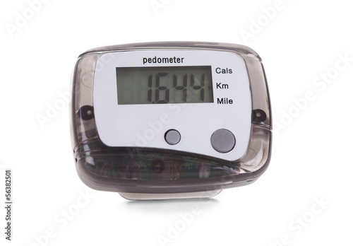 Close-up Of Digital Pedometer
