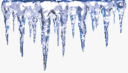 Icicles isolated with clipping path. Design element