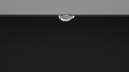 Water droplet on the edge