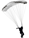 vector illustration paratrooper jumping