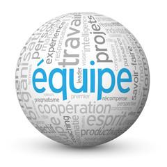 """Globe - Nuage de Tags """"EQUIPE"""" (travail esprit d'équipe projets)"""