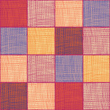 Grunge striped and checkered quilt cloth seamless background