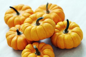 Lots of small pumpkins
