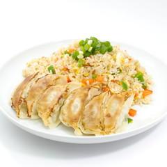 Fried rice with Fried dumplings set