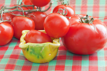 Fresh red tomatoes.