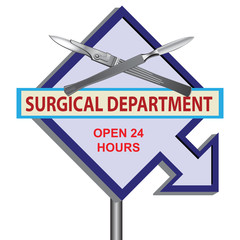 Sign surgical Department