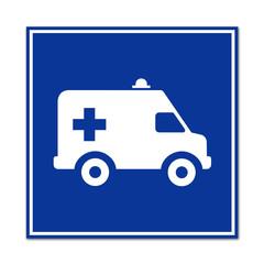 Señal simbolo ambulancia