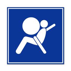 Cartel simbolo airbag
