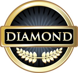 Diamond Black Vintage Label