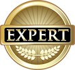 Expert Gold Vintage Label