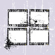 grungy negative film set, picture frame