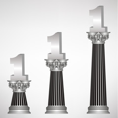 greece column with sign number one