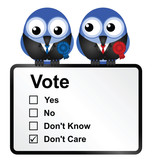 Bird politicians with disillusioned voters opinion