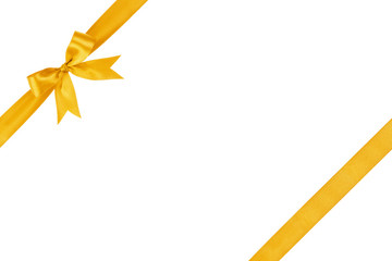 gold simple tied ribbon bow composition