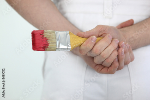 Male painter decorator