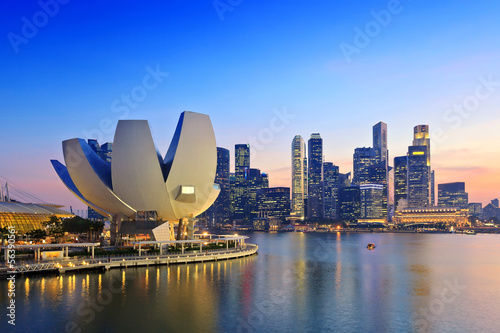 canvas print picture Singapore Skyline