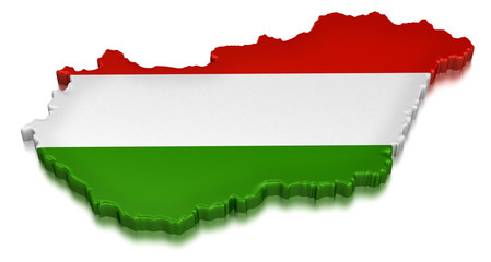 Hungary  (clipping path included)