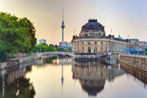 vintage style of Bode Museum on museum island, Berlin, Germany
