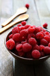 juicy and flavorful raspberries on the table