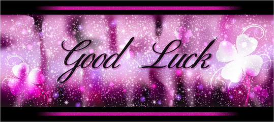 Glückwunschkarte Good Luck