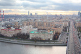 Kutuzovsky prospect, Moskva river and Novoarbatsky bridge