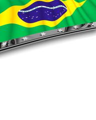 Designelement Flagge Brasilien