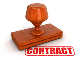Rubber Stamp Contract (clipping path included)