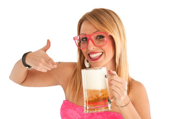ragazza con birra