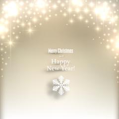Sparkle golden christmas background.