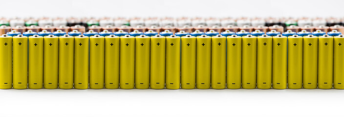 Isolated batteries in a row