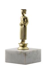 Golden statuette.