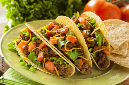 Homemade Ground Beef Tacos