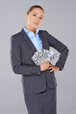 Successful wealthy businesswoman poster