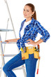 Confident happy DIY handy woman