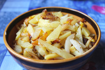 plate full of tasty chips