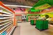 Leinwandbild Motiv shelves with products in the supermarket