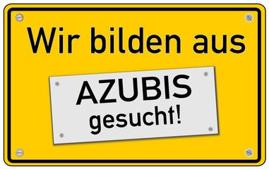 Azubi Ausbildung Tafel gelb  #130920-svg05