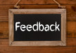 Feedback Holzschild