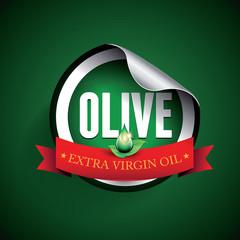 Olive oil label or sticker