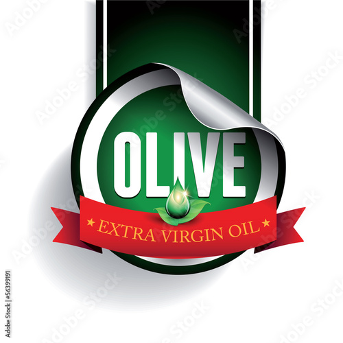 Olive oil label or sticker