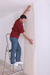 Decorator wallpapering