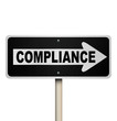 Compliance One Way Sign Pointing Following Guidelines