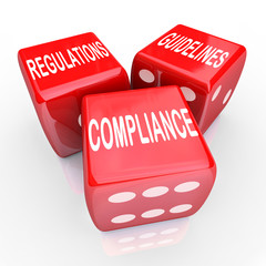 Compliance Regulations Guidelines Three Dice Words