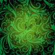 Green seamless vintage pattern