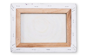 canvas on a stretcher ,on white background