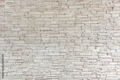Leinwandbild Motiv White Stone Tile Texture Brick Wall