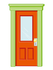 door isolated illustration