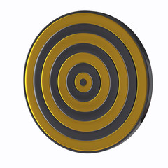 Illustration of golden target