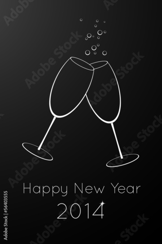 Happy New Year vector card